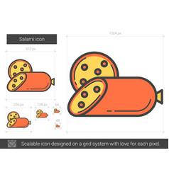 Salami line icon vector
