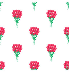 seamless pattern with luxury bouquet roses vector image