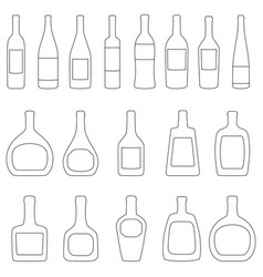 Set of bottles with labels vector
