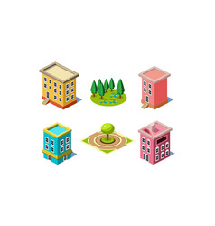 set of elements for city constructor vector image