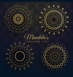 set of four manadala designs vector image