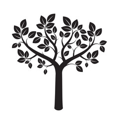 Shape black tree vector