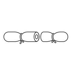 Strip contraceptive icon outline style vector