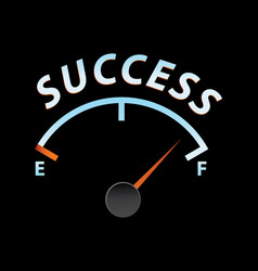 success meter vector image