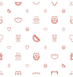 teddy icons pattern seamless white background vector image