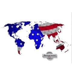 The world map USA with white background and all vector