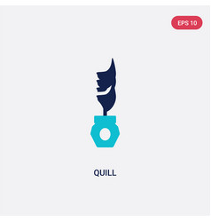 Two color quill icon from literature concept vector