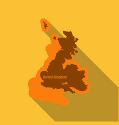 United kingdom uk regions map in flat style with vector