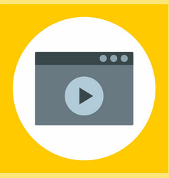 video file icon flat style vector image