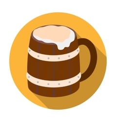 Viking ale icon in flat style isolated on white vector image