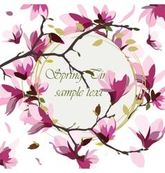 Vintage Spring Watercolor Wreath vector image