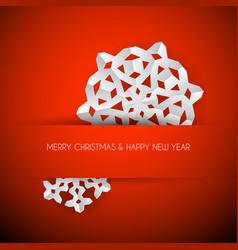 White paper christmas snowflake vector