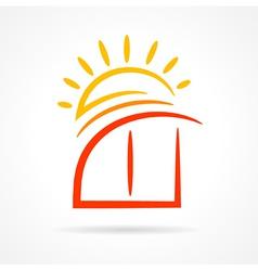 window emblem sun symbol element icon vector image