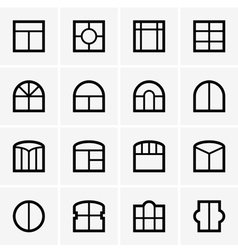 Window icons vector image
