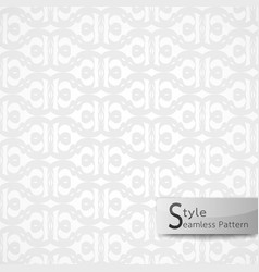 abstract seamless pattern flower lattice white vector image