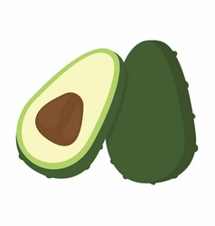 avocado pieces set vector image