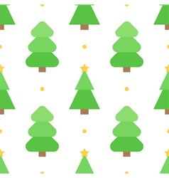 Christmas tree seamless pattern background vector image vector image