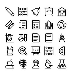 education line icons 1 vector image vector image