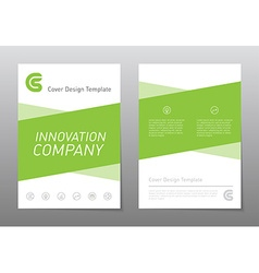Flyer design template green annual report brochure vector