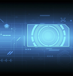 interface technology background vector image