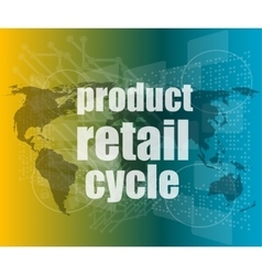 Product retail cycle - digital touch screen vector