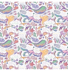 Sea life baby pattern vector image vector image