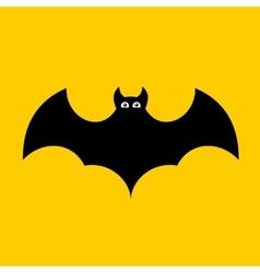 Cartoon Bat on Orange Background Flat design vector image vector image