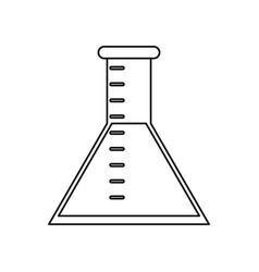 laboratory test tube chemistry thin line vector image