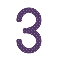 purple number three design over lilac dotted vector image