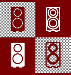 speaker sign bordo and white vector image vector image