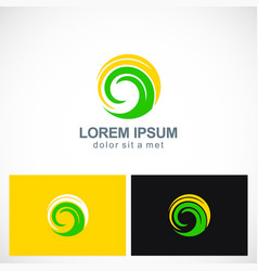 circle absract swirl eco technology logo vector image