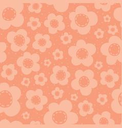 cute peach flowers seamless pattern vector image