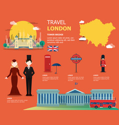 english map for traviling in london design vector image vector image