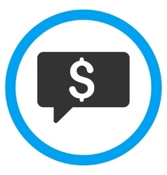 Money Message Flat Rounded Icon vector image vector image