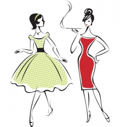retro fashion vector image