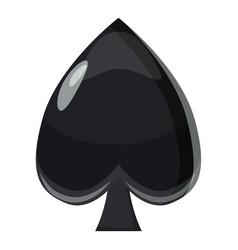 spade symbol plying card icon cartoon style vector image vector image
