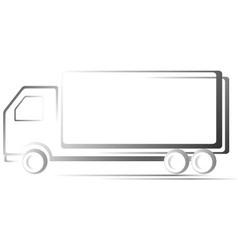 transport icon with truck vector image vector image