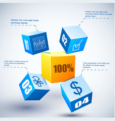 3d financial results vector image