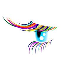 coloured eyelashes2 vector image