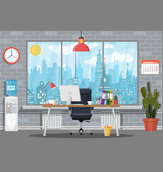 office building interior vector image vector image