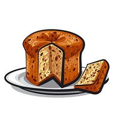 raisins cake panettone vector image vector image