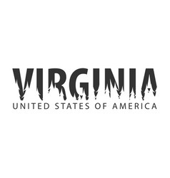 virginia usa united states of america text or vector image vector image