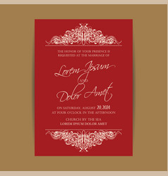 wedding invitation floral backgroundl vector image vector image