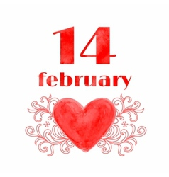 14 February vector image