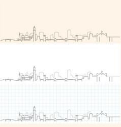 Alexandria hand drawn skyline vector
