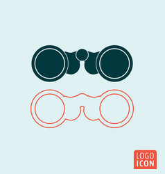 binoculars icon isolated vector image