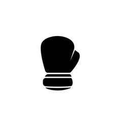 boxing glove flat icon vector image