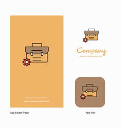 breifcase company logo app icon and splash page vector image