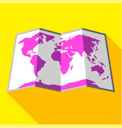 bright colored map vector image