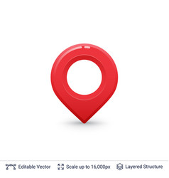 bright location pin vector image
